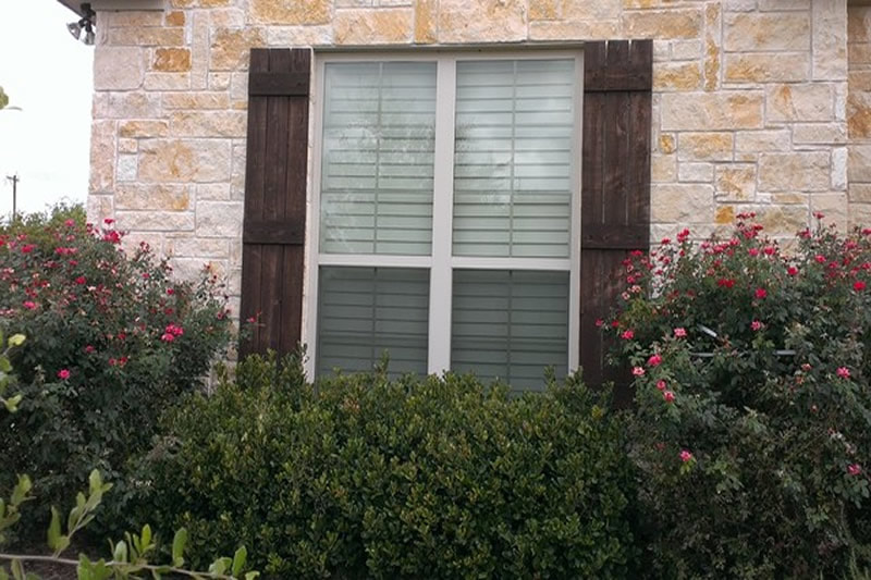 Staining Shutters Wood Stain Company Frisco